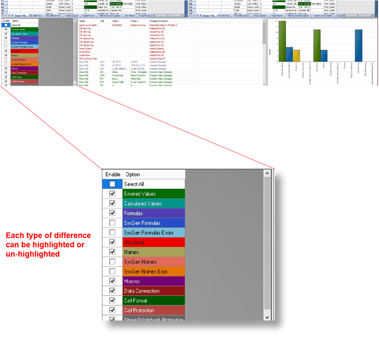 Microsoft - Compare Excel Files & Highlight Differences