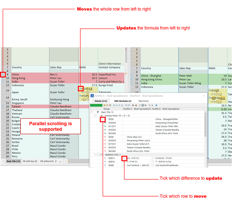 Compare Two Excel Files Online, Merge Excel Spreadsheets