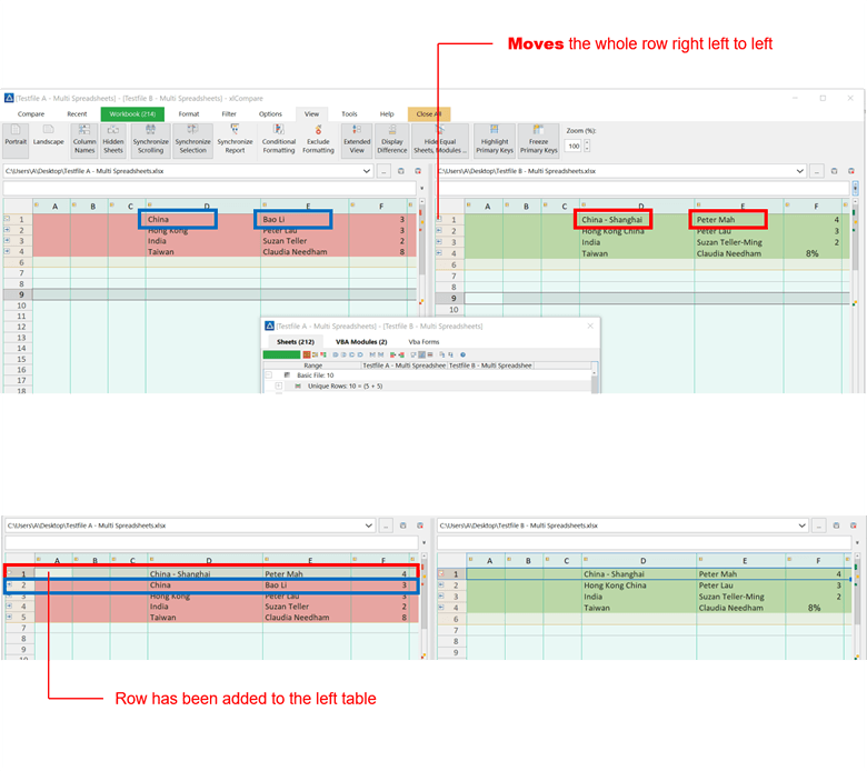 xlCompare - Best Excel Compare Tool